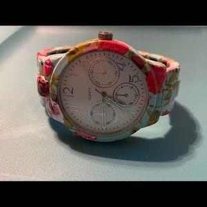 Jewelry - Floral & Teal Quartz Watch